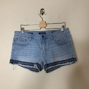 Vigoss The Jagger Design Frayed Hem Jean Shorts
